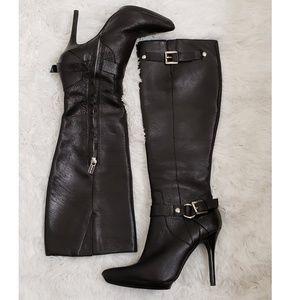 MICHAEL KORS Cheyenne Black Leather Boots